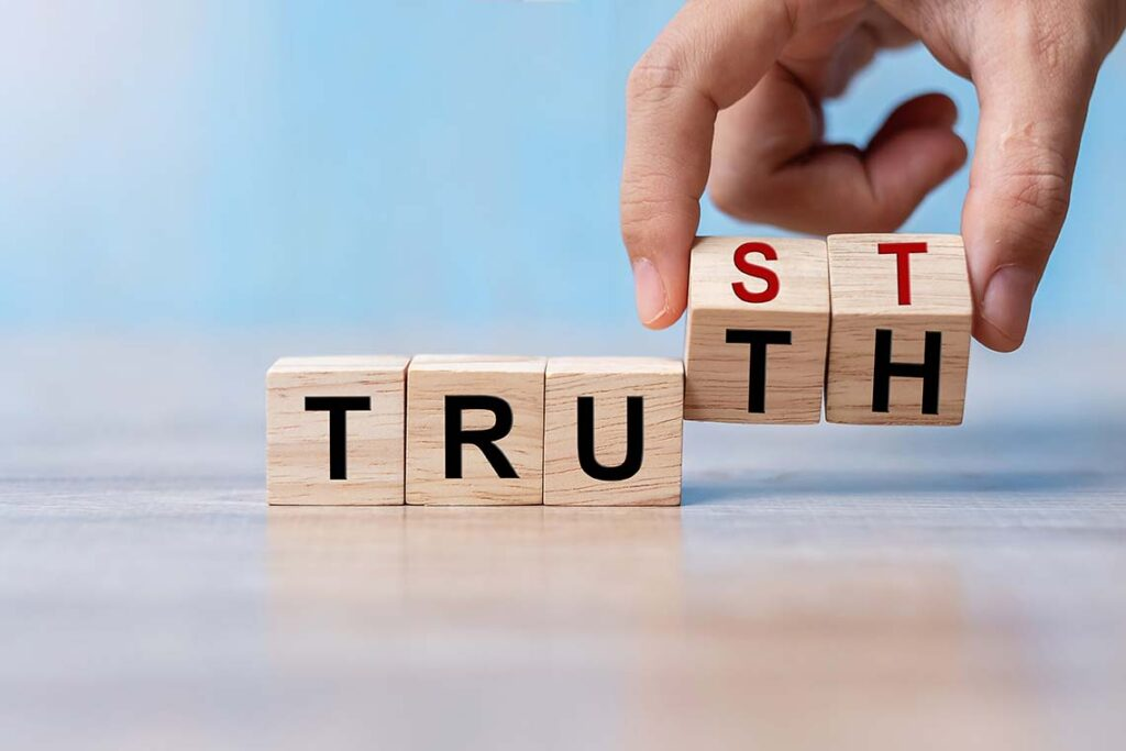 Truth and Trust on small blocks
