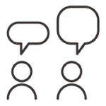 icon of two people and speech bubbles